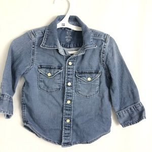 Gap denim jean button up long sleeve